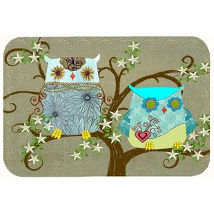 The Friendly Las Owl Kitchen Bath Mat