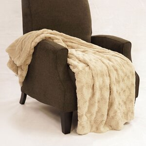 Swirl Faux Fur Throw Blanket