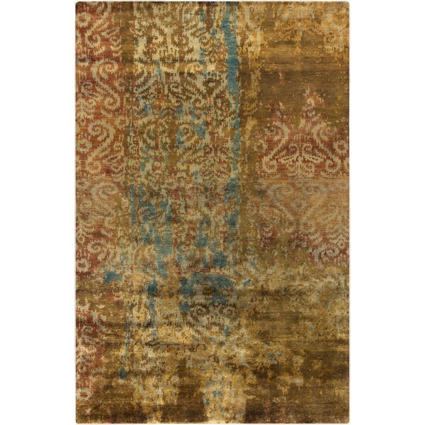 Beqal Gold Damasks Area Rug by Bloomsbury Market