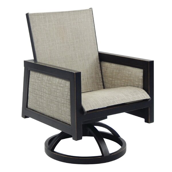 Gold Coast Sling Swivel Rocking Chair by Leona