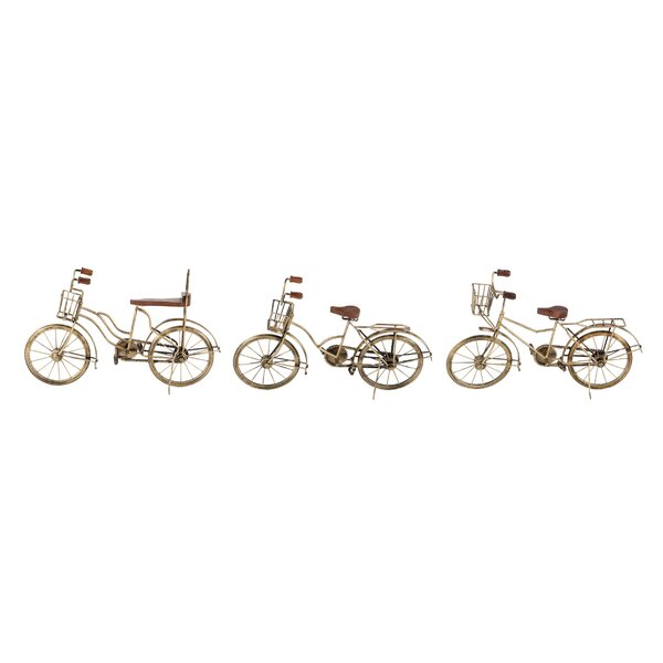 Kuester Eclectic Distressed Bicycle 3 Piece Vehicle Set by Williston Forge