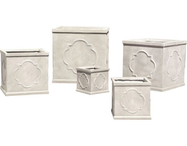 Hamilton Quatrefoil 5-Piece Fibreclay Planter Box Set by One Allium Way