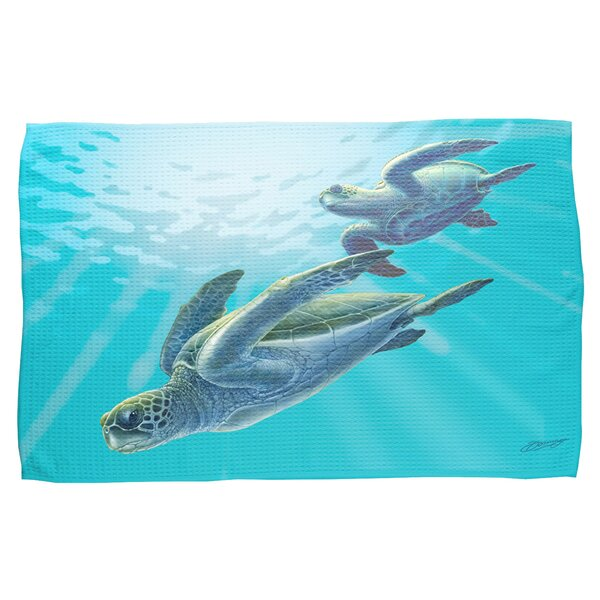Sea Turtles Waffle Weave Hand Towel (Set of 2) by Live Free