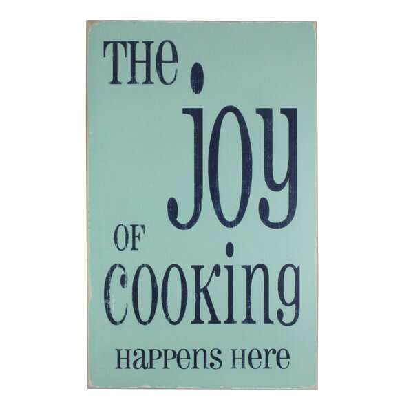 The Joy of Cooking Textual Art Plaque by Barn Owl Primitives