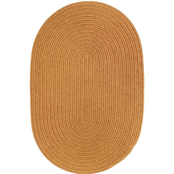 Handmade Gold Indoor/Outdoor Area Rug by The Conestoga Trading Co.