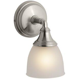 1 light satin nickel bathroom vanity lighting youll love wayfair 1 light satin nickel bathroom vanity lighting aloadofball Images