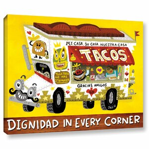 'Taco Truck' Graphic Art Print on Canvas by East Urban Home