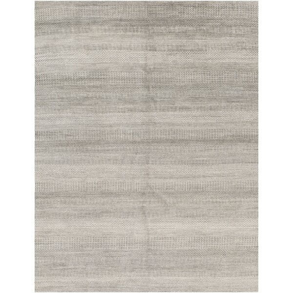 Hand-Knotted 7.10' x 10' Gray/Silver Area Rug