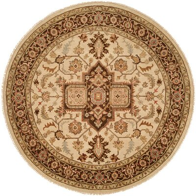 Hand Knotted Brownblue Area Rug Wildon