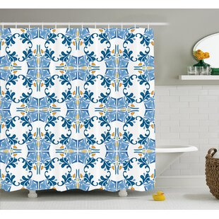 Tile Mosaic Design Decor Shower Curtain