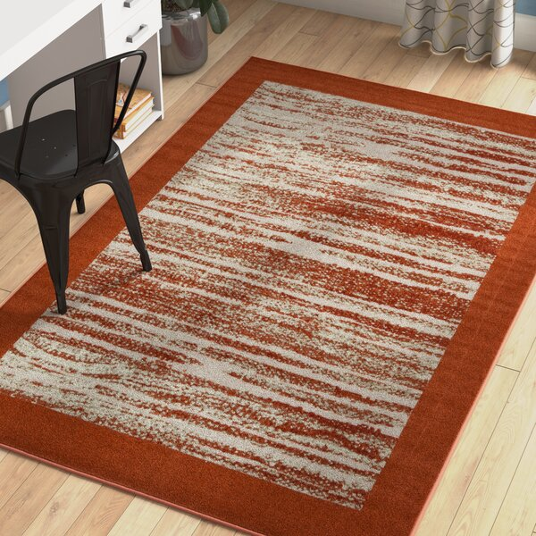 Alley Rock Terracotta Indoor/Outdoor Area Rug by Zipcode Design