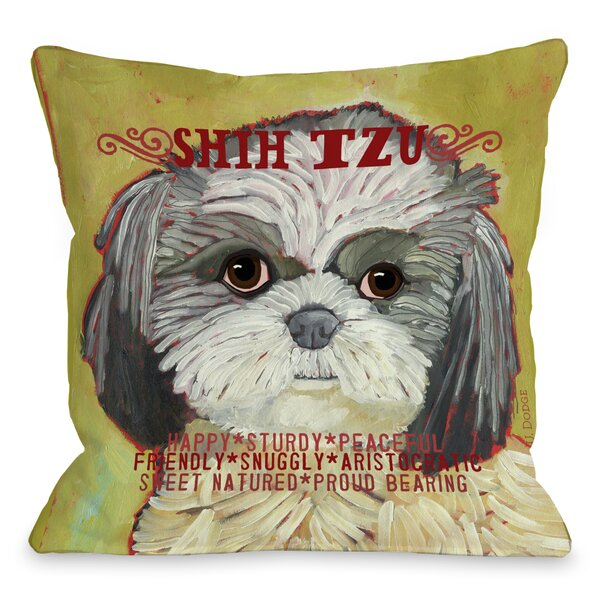 Doggy Décor Shih Tzu Throw Pillow by One Bella Casa