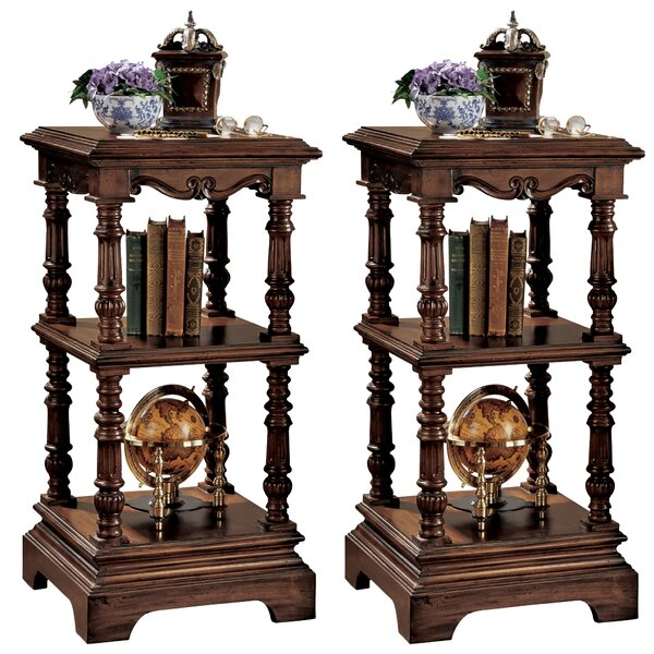 Lord Pimlicoe Etagere Bookcase (Set of 2) by Design Toscano