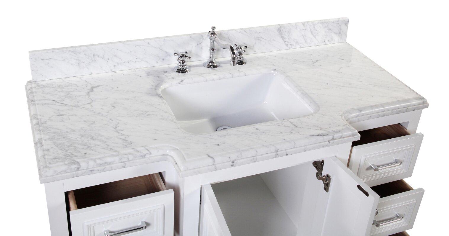 "Beachcrest Home Gotha 3 Light Vanity Light Reviews: KBC Nantucket 48"" Single Bathroom Vanity Set & Reviews"