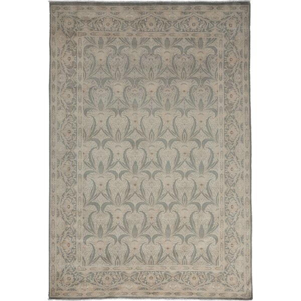 One-of-a-Kind Danny Oushak Hand-Knotted Gray Area Rug by Isabelline