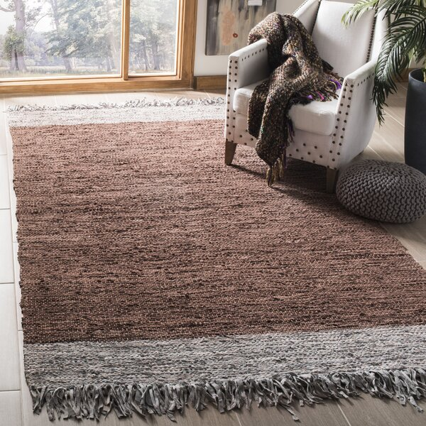 Swayze Hand Hooked Brown Area Rug by Mistana