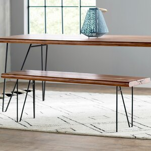 Eliane Metal Bench by Mistana