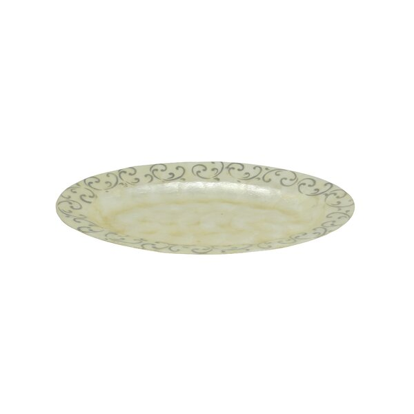 Scroll Oval Platter by Dekorasyon Gifts & Decor