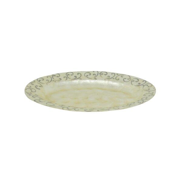 Scroll Oval Platter by Dekorasyon Gifts & Decor