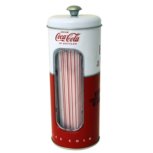 Coke Straw Canister Flatware Caddy by Tin Box Company
