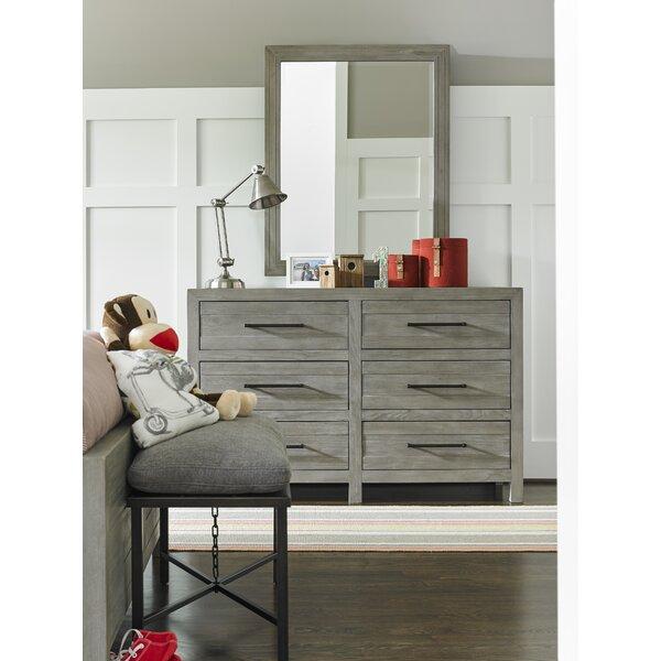 Goshen 6 Drawer Double Dresser With Mirror by Greyleigh