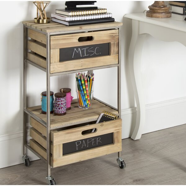 Scarlet 2 Drawer Farmhouse Bar Cart by Gracie Oaks