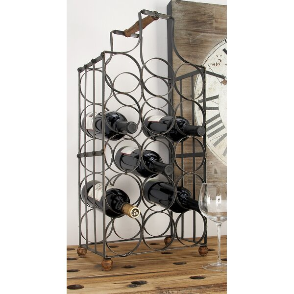 MONT PLEASANT 6 Bottles Metal Wine Rack Countertop Freestand Wine Storage Holder