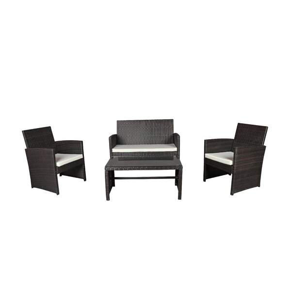 Madisonburg 4 Piece Sofa Seating Group with Cushions by Bloomsbury Market