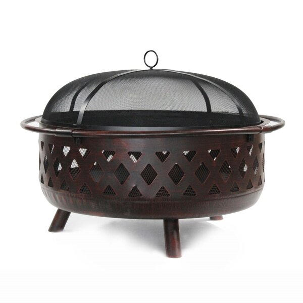 Crossweave Steel Wood Burning Fire Pit by ALEKO