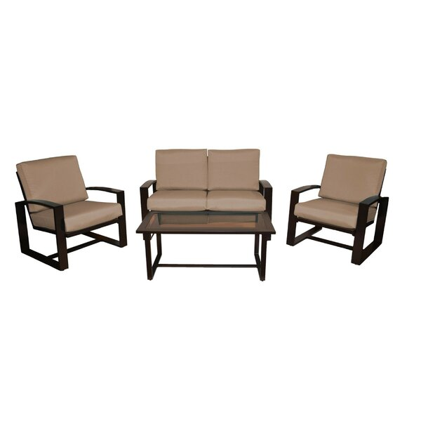Brower 4 Piece Sofa Set with Cushions by Orren Ellis