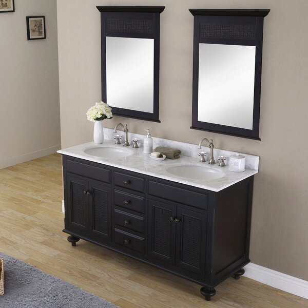 Carlson 60 Double Bathroom Vanity Set with Mirror by dCOR design