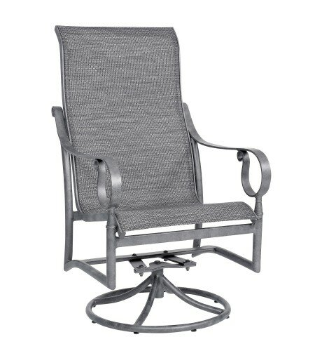 Ridgecrest Swivel Patio Dining Chair by Woodard