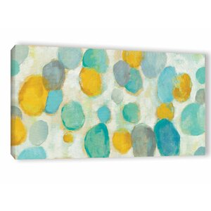 'Painted Pebbles' Painting Print on Wrapped Canvas by Ebern Designs