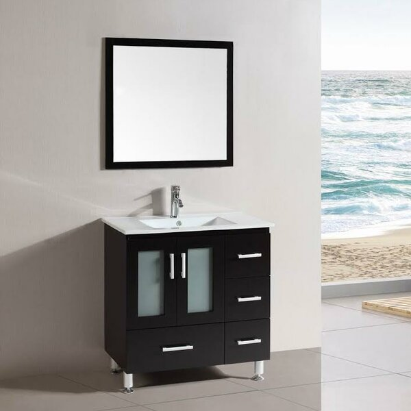 Signature Series 30 Single Modern Freestanding Bathroom Vanity Set by Belvedere Bath
