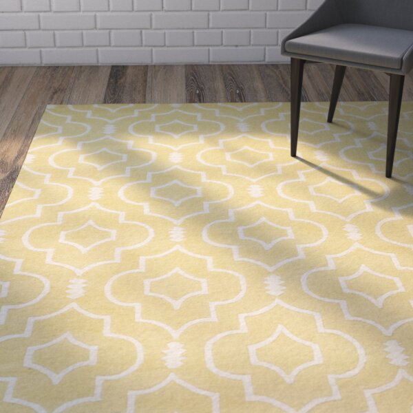 Greaves Light Gold / Ivory Rug by Mercury Row