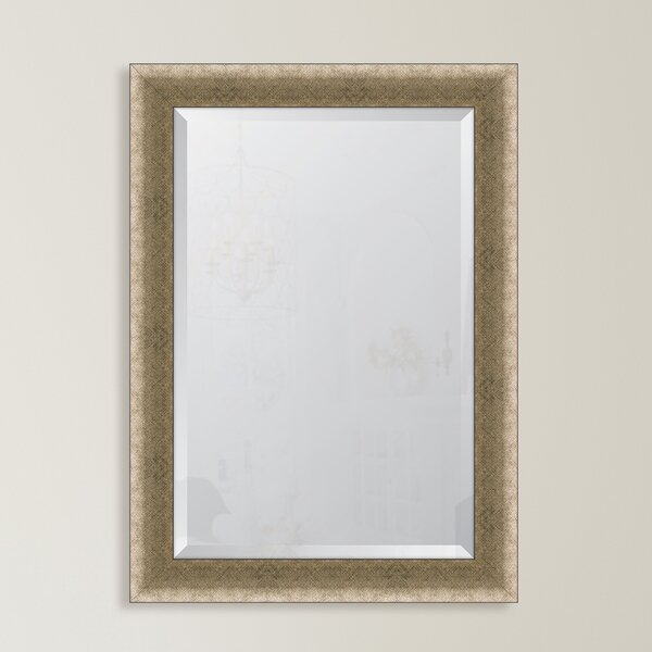 Slight Concave Silver Crosshatch Resin Frame Wall Mirror by Melissa Van Hise