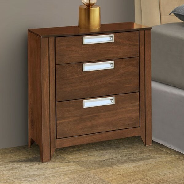 Solar 3 Drawer Nightstand by REZ Furniture