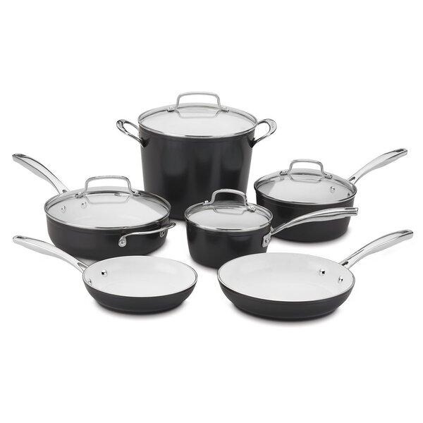 10-Piece Non-Stick Cookware Set by Cuisinart