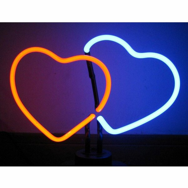Double Hearts Neon Sculpture by Neonetics