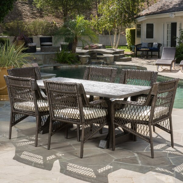 Calton 7 Piece Dining Set with Cushions by Brayden Studio