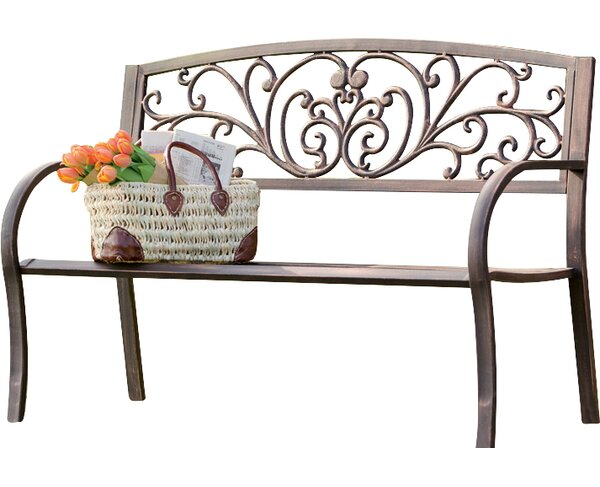 Blooming Iron Garden Bench by Plow & Hearth