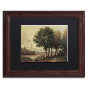 Tranquility by Daniel Moises Matted Framed Painting Print by Trademark Fine Art
