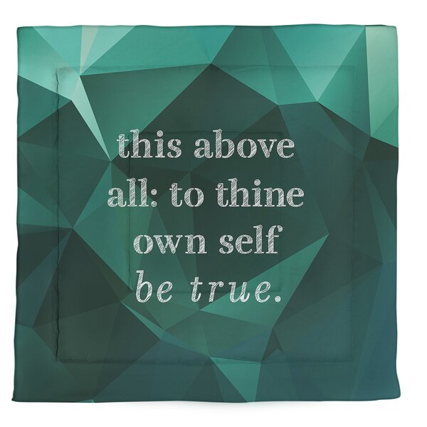 Shakespeare Inspirational Quote Single Reversible Comforter
