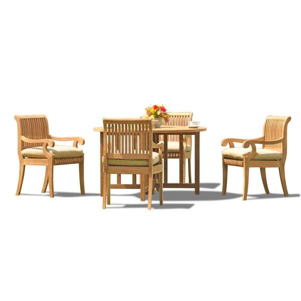 Massenburg 4 Piece Teak Dining Set by Rosecliff Heights