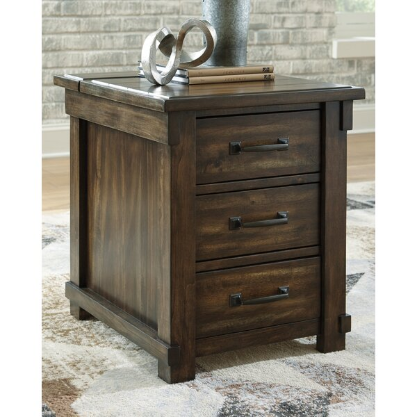 Hartshorne End Table With Storage By Foundry Select