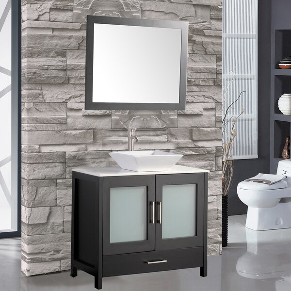 Powley 48 Single Sink Bathroom Vanity Set with Mirror by Orren Ellis