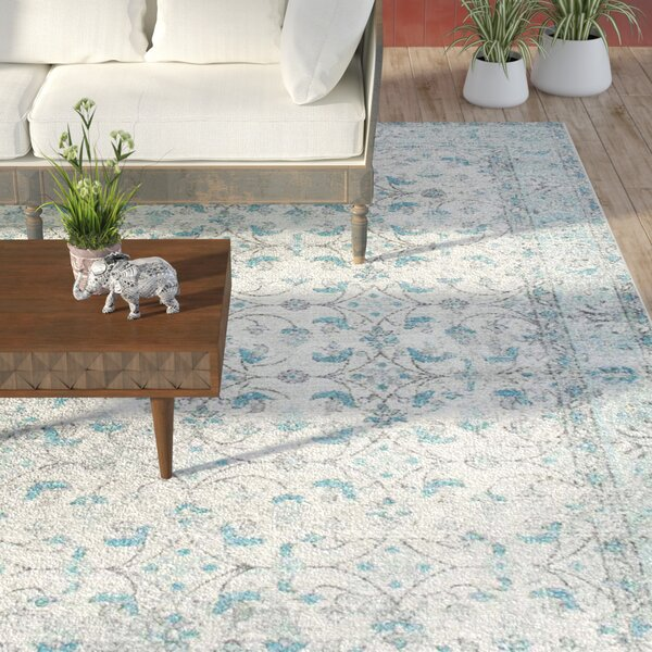Navarrete Ivory & Cream/Blue Area Rug by Lark Manor