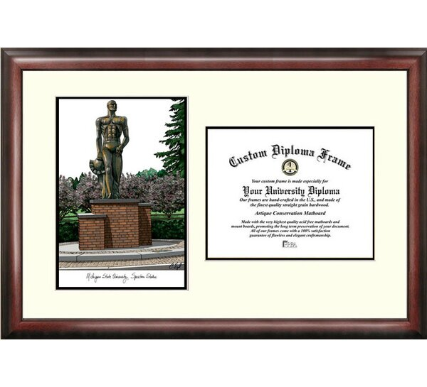 NCAA Michigan State University Spartan Scholar Diploma Picture Frame by Campus Images