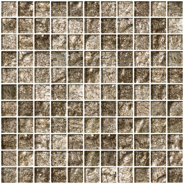 1 x 1 Glass Mosaic Tile in Espresso Brown by Susan Jablon
