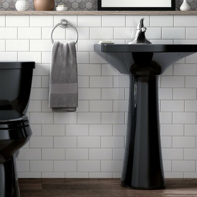 Kohler Pedestal Sink Ceramic Overflow Faucet Mount Bathroom Sinks